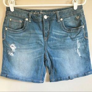 Justice Jeans Women's Denim Shorts Size 16 1/2